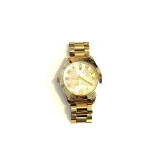 Gold Map Michael Kors watch